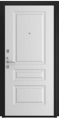 Дверь Титан Мск - Lux-3 B, Cеребрянный антик/ Эмаль 16 мм. панель L-2, белый
