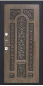 Дверь Титан Мск - Lux-3 A, Медный антик/ ПВХ 16 мм. панель D19 Грецкий орех черная патина винорит