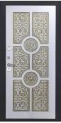Дверь Титан Мск - Lux-3 A, Медный антик/ ПВХ 16 мм. панель D22 белый патина золото винорит