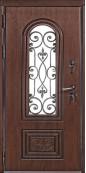 Входная металлическая дверь, Севилья, Темный дуб ВИНОРИТ / Темный дуб ВИНОРИТ