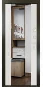 Входная металлическая дверь, Плаза, Горький шоколад/ Белый софт