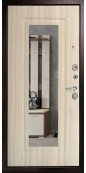 Дверь Титан Мск - 105 Кристалл, Антик медь / Лиственница беленая / Зеркало