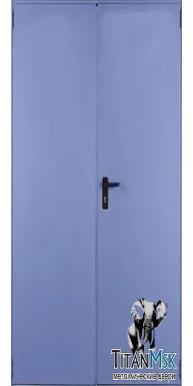 Противопожарная двустворчатая (1.5 мм) дверь тамбурная, EI60, Ral 9007
