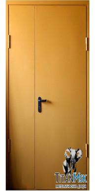 Противопожарная двустворчатая дверь  EI-60, Ral1023