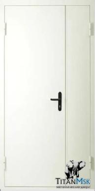Противопожарная двустворчатая дверь тамбурная EI60, Ral 9016, белая