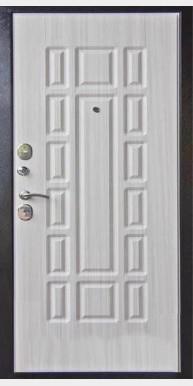 Входная металлическая дверь Марсель, Венге темный / Сандал светлый