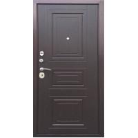 Входная металлическая дверь Трио, Медный антик/ Орех премиум