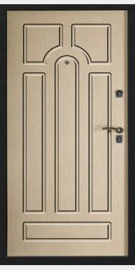 Входная металлическая дверь Титан Мск Аккорд, Черный муар / Дуб Пикар