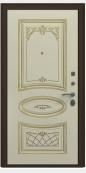 Входная металлическая дверь, Премьер Аккорд, Черное серебро / Слоновая кость патина золото