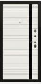 Входная металлическая дверь, Цезарь, Белый матовый / Белый антик с тиснением