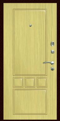Входная дверь Титан Мск,  К-7, дуб беленый