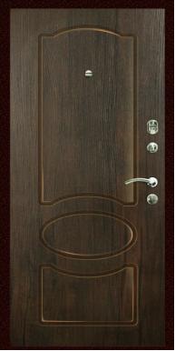 Входная дверь Титан Мск,  П-13, тиковое дерево