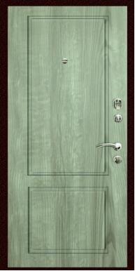 Входная дверь Титан Мск,  П-14, серое дерево