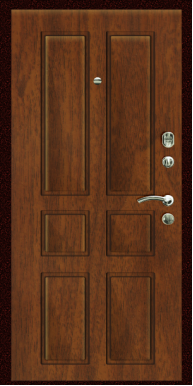 Входная дверь Титан Мск,  П-4, орех мореный