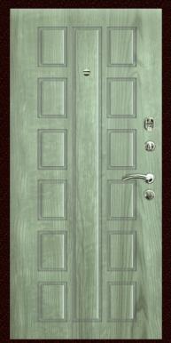 Входная дверь Титан Мск,  Э-7, серое дерево