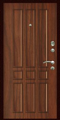 Входная дверь Титан Мск,  Э-1, орех тисненый