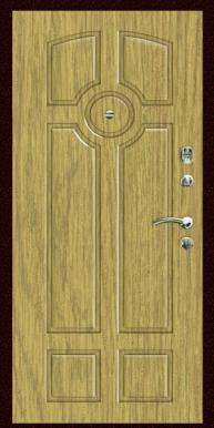 Входная дверь Титан Мск,  П-2, жасмин