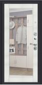 Дверь Титан Мск - Урбан, Темная Вишня/Bianco Veralinga с зеркалом