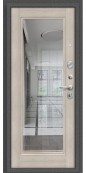 Дверь Титан Мск - Porta S 104.П61, Антик Серебро / Cappuccino Veralinga с зеркалом