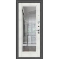 Дверь Титан Мск - Porta S 104.П61, Антик Серебро / Bianco Veralinga с зеркалом