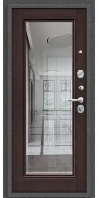 Дверь Титан Мск - Porta S 104.П61, Антик серебро / Wenge Veralinga с зеркалом