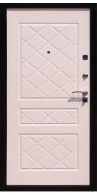 Входная металлическая дверь Титан Мск Eco, Медный антик / Беленый дуб