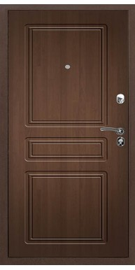 Входная металлическая дверь Титан Мск Практик, Медный антик / Орех премиум