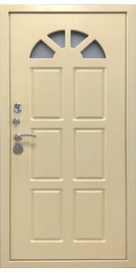 Входная металлическая дверь Турин, RAL-7024 эмаль/ RAL-1015 эмаль