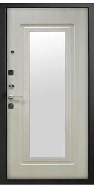 Дверь Титан Мск, Царское зеркало - Черный муар / Белый ясень