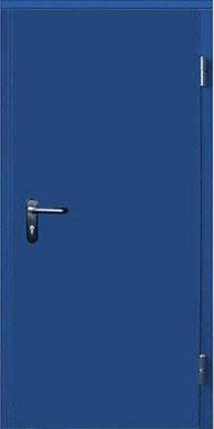 Противопожарная дверь тамбурная металлическая, EI60, Ral 9007 (1.5 мм)