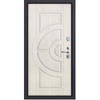 Металлическая дверь Groff Р3-312 П-28, Темная Вишня, Беленый Дуб