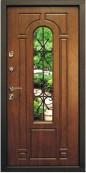 Металлическая дверь Top Staller Лацио, Дуб золотой патина черная/ Дуб золотой патина черная