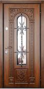 Металлическая дверь Титан Мск Лаццио, К-055, с ковкой, влагостойкий МДФ, дуб золотой винорит