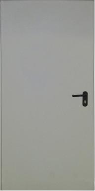 Противопожарная входная металлическая дверь ДП-1- EI-60, RAL 7035