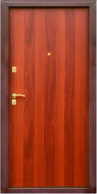 Титан Металлическая дверь Стандарт, металл / панель, медный антик / итальянский орех