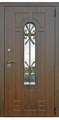 Входная дверь Титан Мск «Fashion Lacio 3K Vinorit», Металл с МДФ и ковкой / Винорит грецкий орех