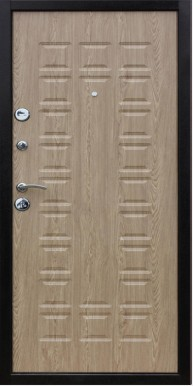 Входная дверь «Yoshkar» металл/панель, мeдный aнтик/ель карпатская