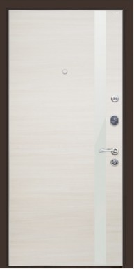 Металлическая дверь Top M 6, Венге / Эшвайт кроскут