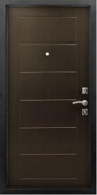 Металлическая дверь «Fashion Sity», Антик серебро / Венге