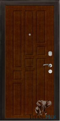 """Металлическая дверь """"В 8"""", внутреннее открывание, орех итальянский Бор"""