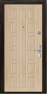 """Металлическая дверь """"В 2"""", внутреннее открывание, дуб беленый"""