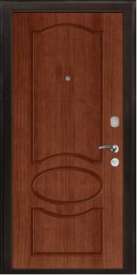 Металлическая дверь «ЗЕНО-2», орех тисненый