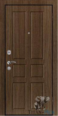 """Металлическая дверь """"В 3"""", внутреннее открывание, орех седой"""
