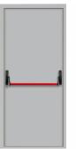 """Противопожарная одностворчатая дверь EI-60, Системы """" Антипаника"""" , Ral 9016, белая"""
