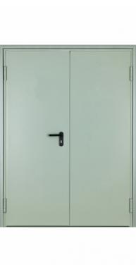 Противопожарная двустворчатая глухая дверь тамбурная EI-60