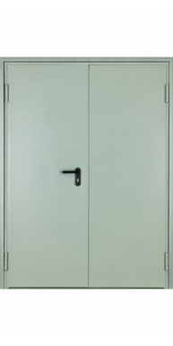 Противопожарная двустворчатая (1.2 мм) дверь тамбурная EI-60