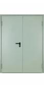 Противопожарная двустворчатая (1.4 мм) дверь тамбурная EI-60