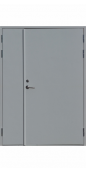 Противопожарная двустворчатая (1.5 мм) дверь тамбурная Padilla EI60 REVER RAL 7035