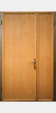 Распашная дверь тамбурная «Тип 1», дуб светлый