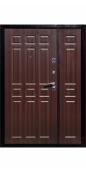 Распашная дверь тамбурная «Тип 8», металл/панель, старое дерево